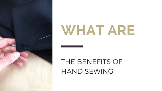 What are the benefits of hand-sewing?