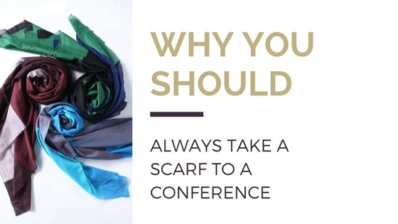 Why you should always carry a silk scarf to a business lunch or conference