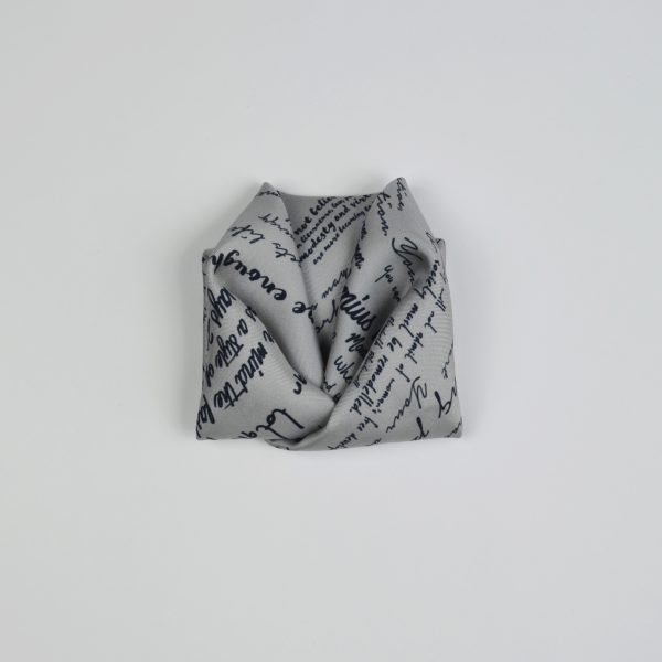Origami folded silk twill pocket square